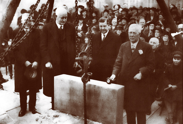 The Congregational Church foundation stone laying ceremony